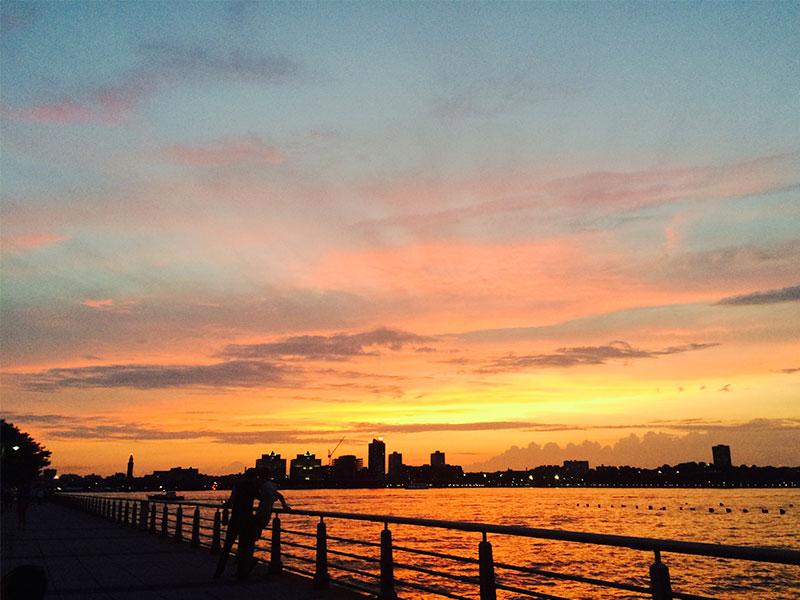 La puesta de sol desde el Pier de Christopher Street (¡¡y sin filtros!!)