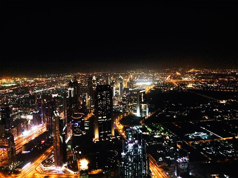 Vistas desde el piso 124 del Burj Khalifa